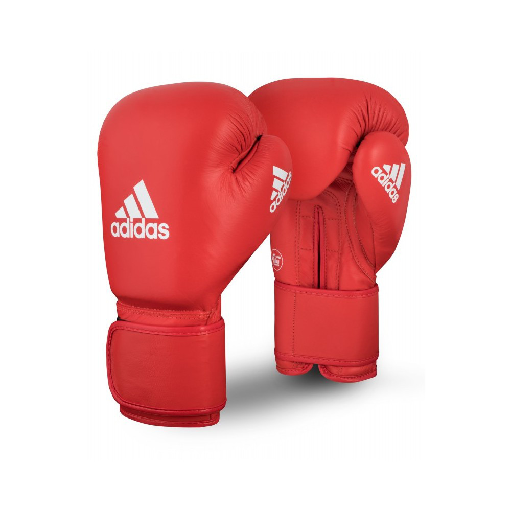 Боксерские перчатки ADIDAS AIBA  12 ун красные