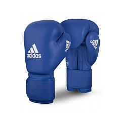 Боксерские перчатки ADIDAS  AIBA 10 ун синие