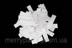 Конфетти метафан белый 1,5х4 см 50 г/упак. полипропилен