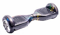 """Гироборд Smart Way 6.5"""" Tao Tao (ПО, Led, Bluetooth, сумка) Черный с разноцветными молниями (5222)"""