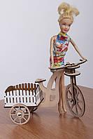 Игрушка Велосипед для кукол Барби, Братц, Монстер Хай, Сувенир