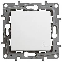 Выключатель одноклавишный проходной Legrand Etika IP44 10A Белый (672200)