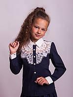 Блузка школьная нарядная 8018