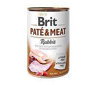 Влажный корм Brit Pate & Meat Rabbit 11/9 (кролик для взрослых собак), 400 гр