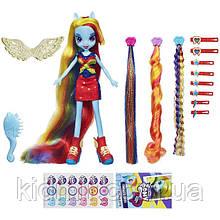 Моя Маленька поні Веселка Деш з набором пасм My Little Pony Equestria Girls Rainbow Dash Hasbro