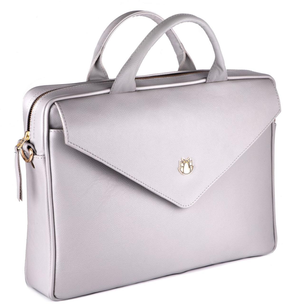f557aad8bd64 Женская сумка для ноутбука 15,6' Felice Fl15 Grey - SUPERSUMKA интернет  магазин в