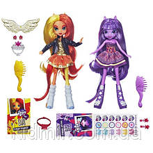Моя Маленька поні Сансет Шімер і Іскорка My Little Pony Equestria Girls Sunset Twilight Hasbro