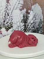 Мыло хрюша, ручная работа, темно-красного цвета, новогодний подарок