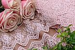 Кружево светло-розового цвета с зубчиками и веточками, ширина 7,5 см, фото 3