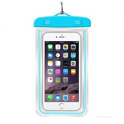Чехол для телефона водонепроницаемый 10,5x18см MHZ C25226 голубой
