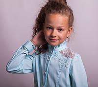 Блузка школьная нарядная 8022 мятный, фото 1