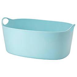 ТОРКИС Гибкая корзина для белья, синий, 35 л 80339224 IKEA, ИКЕА, TORKIS