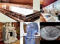 Изделия из мрамора, гранита, кварца, травертина - столешницы, подоконники, ступени, каминные порталы