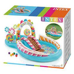 Водный надувной игровой центр Intex 57149 Карамель Candy Zone Play Center + встроенный фонтан 295x191x130 см
