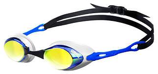 Стартовые зеркальные очки для плавания Arena Cobra Mirror Black-Bkue 92354-17