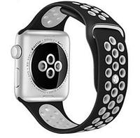 Ремешок браслет сетка Nike Sport Band для Apple Watch 38/40 mm, Черный+Белый