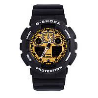Спортивные наручные часы Casio G-Shock ga-100 Black-Gold реплика