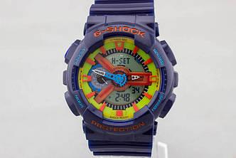 Спортивные наручные часы Casio G-Shock ga-110 Blue реплика