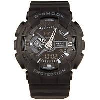 Мужские наручные спортивные часы Casio G-Shock GA 110 Black копия