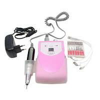 Бесплатная доставка! Фрезерный аппарат для маникюра и педикюра 30000 на аккумуляторе Pink