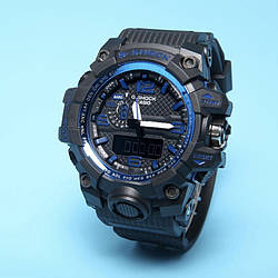 Спортивные наручные часы Casio G-Shock GWG-1000 Black Blue реплика