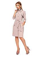 Бежевое платье с карманами, фото 1