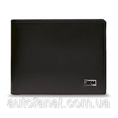 Оригинальное кожаное портмоне BMW M Wallet without Coin Compartment, Black (80212454762)