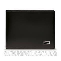 Оригинальное кожаное портмоне BMW M Wallet with Coin Compartment, Black (80212454761)