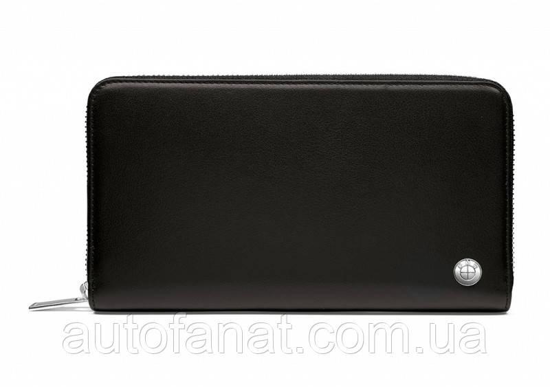 Оригинальное кожаное портмоне BMW Wallet, Horizontal, Black (80212454669)