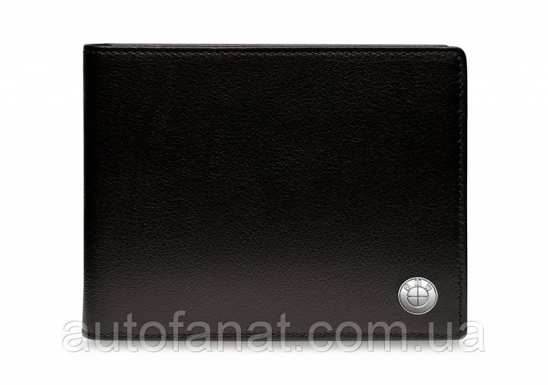Оригинальное кожаное портмоне BMW Wallet without Coin Compartment, Black (80212454668)