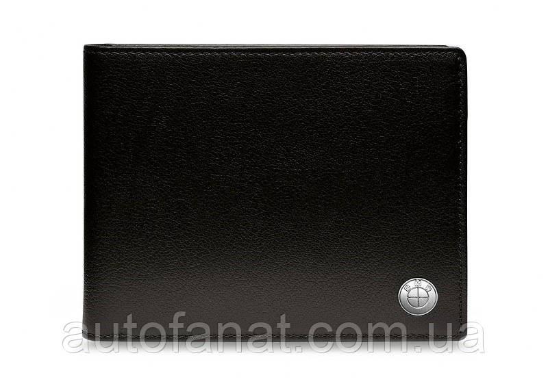 Оригинальное кожаное портмоне BMW Wallet with Coin Compartment, Black (80212454667)