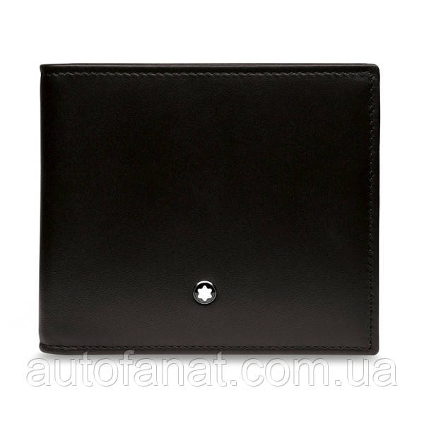Кожаный кошелек BMW Wallet with Coin Compartment, by Montblanc, Black (80212450913)