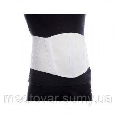 Бандаж для пупочной грыжи (с ребрами жесткости, высота 21 см) бежевый размер 4 обьем талии 111-120 см.