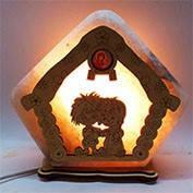 Соляная лампа Домик 18-13 см, Домовенок пара