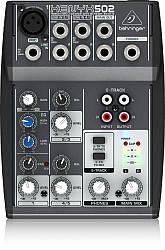 Behringer XENYX 502 микшерный пульт, 1 моно + 2 стерео канала