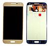 Оригинальный дисплей (модуль) + тачскрин (сенсор) Samsung Galaxy E5 E500 E500F E500H E500M (золотой, OLED)