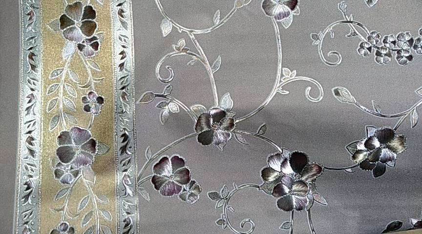 Клеенка на тканной основе шелкография золото/серебро 6799