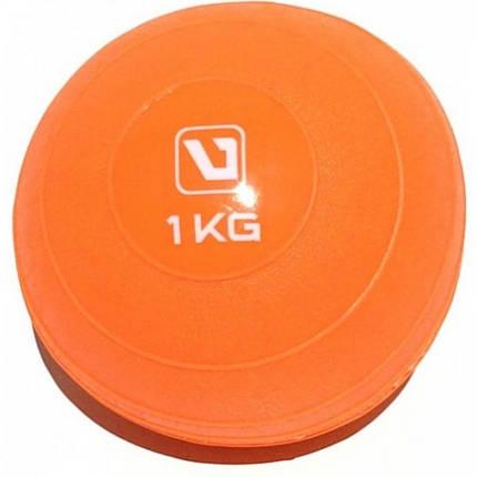 Медбол мягкий набивной LiveUp SOFT WEIGHT BALL, 1 кг, фото 2
