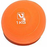 Медбол мягкий набивной LiveUp SOFT WEIGHT BALL, 1 кг, фото 1