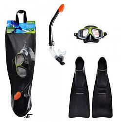 Набір для плавання 55959 маска, трубка, ласти, спортивна серія, положення, ремінець, (розмір 40-45)