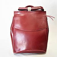 Женский рюкзак GАLАNTY бордового цвета из натуральной кожи EСW-095000, фото 1