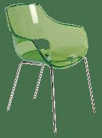Крісло Papatya Opal прозоро-зелене, фото 1