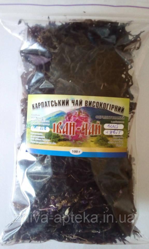 Иван-чай ферментированный листовой с цветками (Карпатский высокогорный) 100 грамм