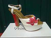Летние женские босоножки на высоком каблуке+платформа..р.36.37.