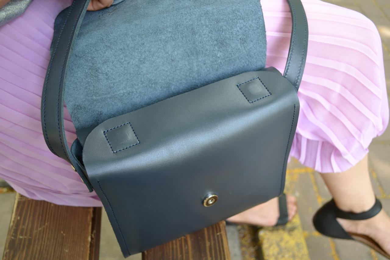 3cf2c4465d6d ... Кожаная сумка NewBox, цвет темно-серый, графит кожа Кайзер, ручная  работа, ...