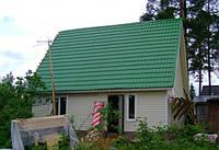 Металлочерепица зеленая 6005 Szafir 350 mm 0.5 mm матовая.