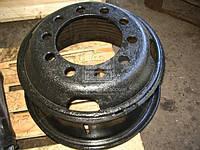 Диск стальной КРАЗ 20х8,5 10 отверстий  в сборе с кольцами  КрКЗ  256Б1-3101012