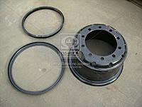 Диск стальной КРАЗ 20х8,5  в сборе с кольцами  КрКЗ 6510-3101012