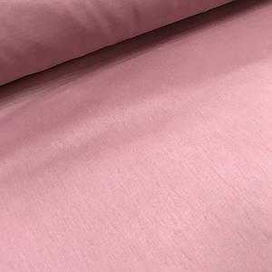 Хлопковая ткань бязь, однотонная брусничная (шир. 1,6м)(плот. 135 г/м.кв)