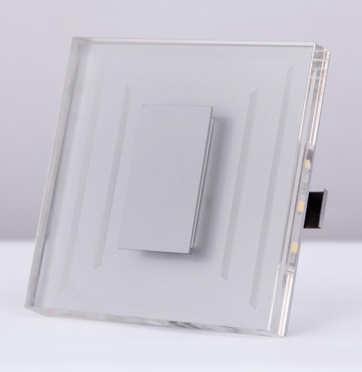 Подсветка LED декоративная CRISTAL 03, алюминий, холодный белый